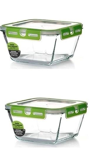 Paşabahçe 53552 Storemax Cam Kilitli Saklama Kabı 2 Li Renkli